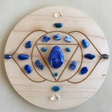 6th third eye chakra crystal grid rae kai crystal healing