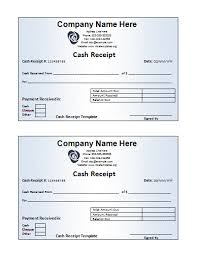 free receipt template free printable word templates