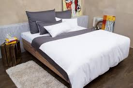 bed linen white grey beige made from fine mako cotton