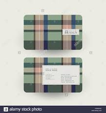 abstract plaid design business card template in green stock vector