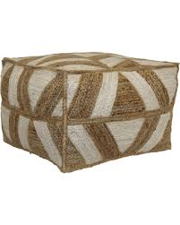 amazing deal on bean bag ottoman threshold square poufivory tan