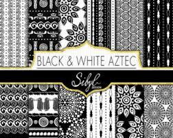 aztec digital paper chalkboard aztec aztec patterns tribal