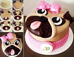 how to diy adorable pug cake video pug cake cake and cake designs