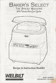 welbilt bread machine blog model abm6200 manual download for