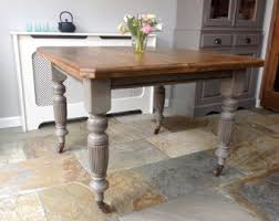 Pine Dining Table Etsy - Victorian pine kitchen table