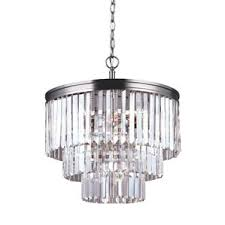 Chandelier With Black Shade And Crystal Drops Crystal Chandeliers You U0027ll Love Wayfair