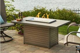 outdoor greatroom fire table outdoor greatroom company brk 1224 brooks rectangular fire pit table
