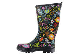 womens rubber boots size 9 womens chief garden play boot black floral