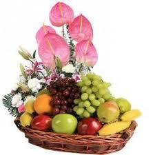 flowers fruit fruit basket fruits flowers basket retail trader from mumbai