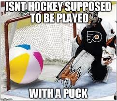 Soccer Hockey Meme - hockey goalie beachball memes imgflip