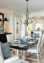 Corona Del Mar Beach House With Classic Coastal Interiors Barclay - Blue and white dining room