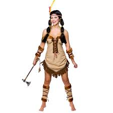 Indian Halloween Costumes Kids Red Indian Fancy Dress Costume Squaw Native Womens Mens