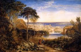 carthage aeneas and achates painting david cox oil painting