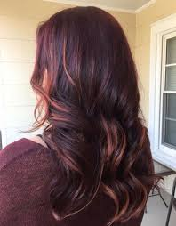 55 lovely long hair ladies layers soft feathered cherry coke