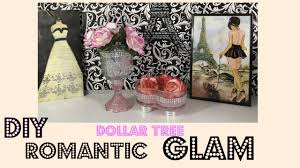 diy pink romantic glam dollar tree home decor youtube