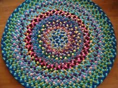 Round Braided Rugs For Sale Christmas Sale 20 Off 57x76 Crayon Braided By Greenatheartrugs