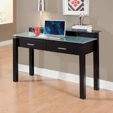 Modern White Office Table Black Glass Desk With Drawers Best Home Furniture Decoration