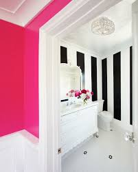 Striped Wallpaper Bathroom Black White Striped With Vertical Stripe Wallpaper Bathroom