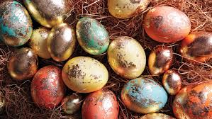 gold easter eggs foiled eggs martha stewart