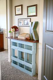 Upcycled Console Table Recycled Painted Pallet Console Table 99 Pallets