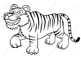 tigres clipart tiger outline pencil and in color tigres clipart