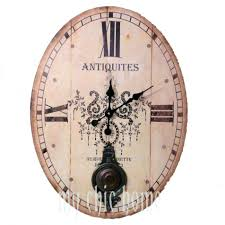 large distressed wall clock large distressed metal wall clock