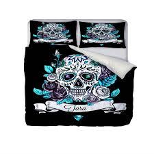 skull bedding personalized sugar skulls bedding duvet