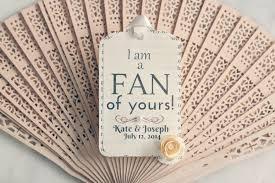 wedding fan wedding fans with gift tags storey weddings