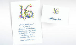 sweet 16 invitations thank you cards city