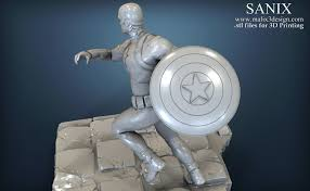 3d printed avengers scene captain america 3d printable model