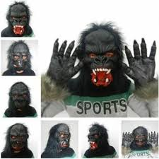 Gorilla Halloween Costumes Halloween Party Props Tricky Realistic Horror Gorilla Mask Sale