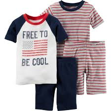 Children S Clothing Clearance Carter U0027s Toddler Boys 4th Of July Free To Be Snug Fit Cotton