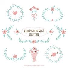wedding ornament collection free vectors ui