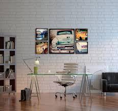 wall decor at home wood photo blocks vintage cars home decor wall art vintage baseball