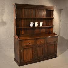 antique elm welsh dresser country kitchen display cabinet fine