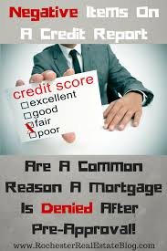 top 5 reasons a mortgage is denied after pre approval