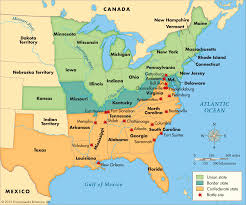 Confederate States Map by Civil War Battles Map Thinglink