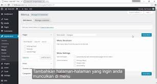 membuat navigasi wordpress membuat menu navigasi di wordpress youtube