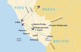Lake Titicaca Map Lost World Of The Incas Peru Jules Verne
