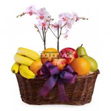 fruits and blooms basket packages