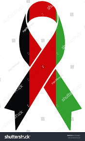 afghanistan ribbon afghanistan condolence ribbon afghan flag colors stock vector
