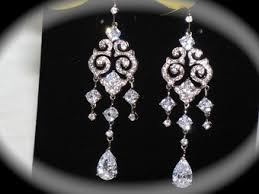 bridal chandelier earrings vintage cubic zirconia bridal chandelier earrings amazing price