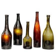 unique wine bottles for sale collection of five wine bottles circa 1760 1820 for