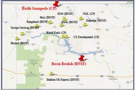 beulah dakota map crude rocking rail plains enbridge and global terminals