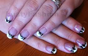black french manicure toes lustyfashion