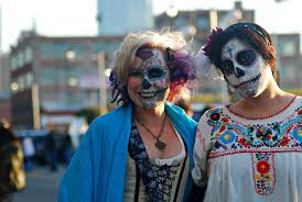 costumes at halloween city day of the dead makeup