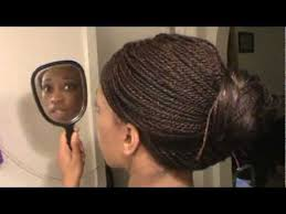 micro braids hairstyles pictures updos how to do an updo bun style on senegalese twist micro braids youtube