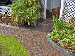 how to do a brick walkway curved brick walkway brick and concrete