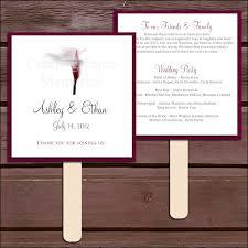Wedding Program Printing Burgundy Wedding Programs Bitsy Bride
