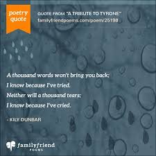 Words Of Comfort For Funeral Son Death Poems